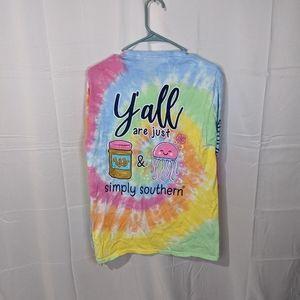 Preppy Simply Southern Tie Dye Shirt